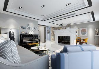 140平米混搭风格客厅设计图