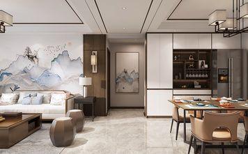130平米四室两厅中式风格玄关图片大全