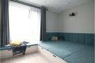 60平米一室两厅北欧风格卧室装修图片大全