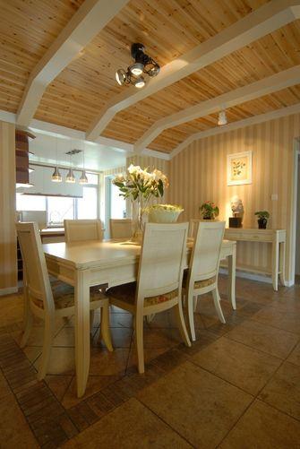 经济型130平米三室三厅田园风格餐厅效果图