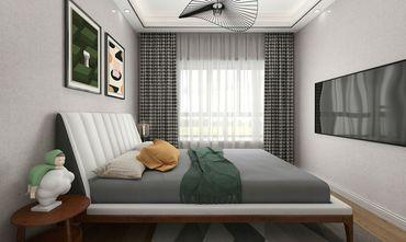 120平米三室两厅田园风格卧室图片