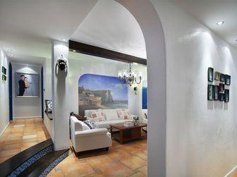 100平米三室一厅田园风格走廊装修效果图