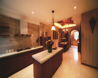 140平米四东南亚风格厨房装修图片大全