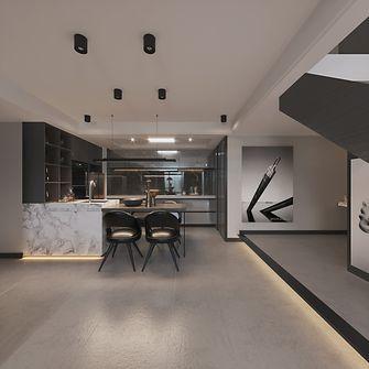 90平米复式混搭风格餐厅装修案例