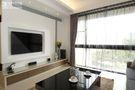 110平米三室两厅现代简约风格客厅窗帘欣赏图