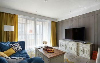 富裕型110平米三室两厅英伦风格阳台图片