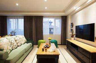 130平米三室一厅美式风格客厅设计图