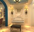 140平米三室一厅现代简约风格影音室图