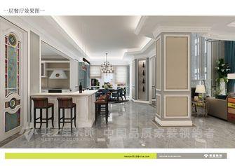 豪华型140平米别墅混搭风格餐厅背景墙装修案例