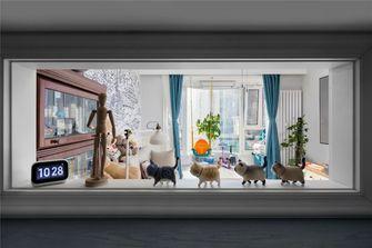 110平米美式风格客厅图