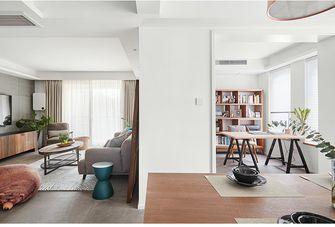 110平米三室两厅北欧风格书房图片大全