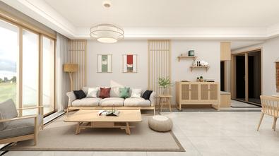 90平米三室两厅日式风格客厅图