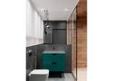 120平米三室一厅北欧风格卫生间装修效果图