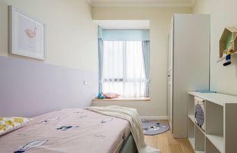 80平米现代简约风格儿童房飘窗设计图