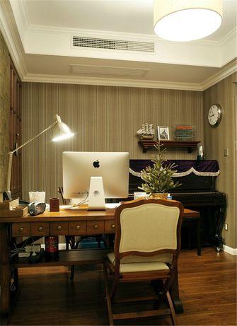 130平米三室两厅美式风格书房图片