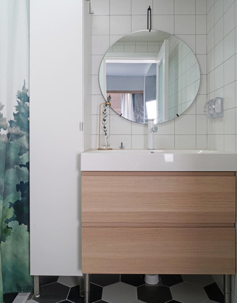 60平米北欧风格卫生间图片