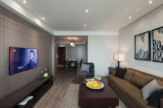 80平米现代简约风格客厅背景墙装修效果图