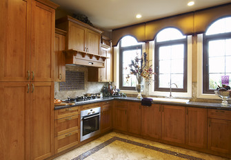 10-15万140平米四室三厅东南亚风格厨房图