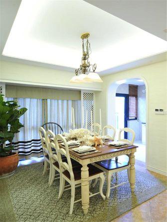 70平米三室两厅地中海风格餐厅装修图片大全
