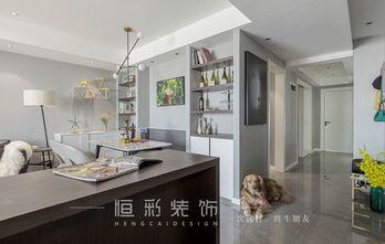 富裕型90平米三室两厅北欧风格客厅设计图
