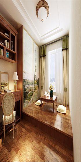 140平米四室兩廳歐式風格書房圖片