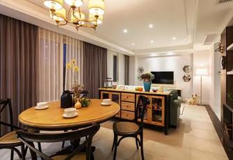 130平米三室一厅美式风格餐厅设计图