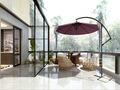 140平米四中式风格阳台欣赏图