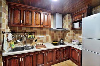 富裕型90平米三室三厅田园风格厨房装修效果图