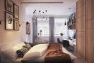 30平米以下超小户型混搭风格卧室设计图