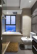 110平米三室两厅现代简约风格卫生间浴室柜图
