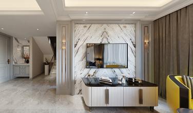 130平米复式美式风格客厅装修图片大全