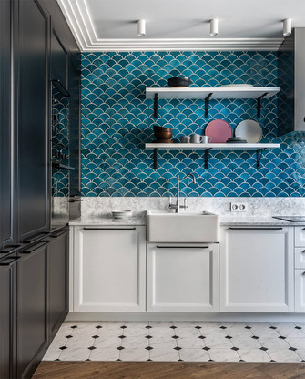 80平米混搭风格厨房设计图