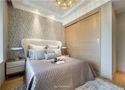 5-10万90平米三室两厅现代简约风格卧室壁纸装修图片大全