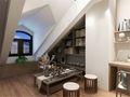 140平米别墅日式风格阁楼装修效果图