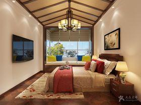 富裕型130平米四室兩廳中式風格臥室設計圖