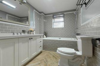 5-10万80平米美式风格卫生间浴室柜效果图