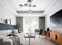 80平米三室一厅现代简约风格客厅设计图