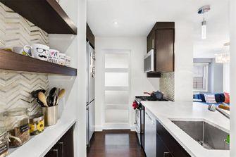 110平米三室两厅现代简约风格厨房图片