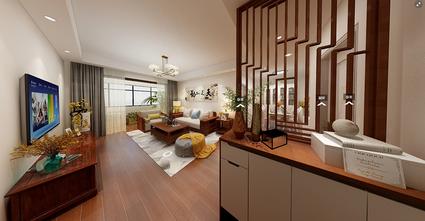 80平米中式风格客厅装修效果图