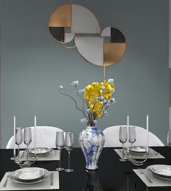 90平米三现代简约风格餐厅装修案例