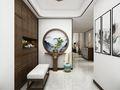 140平米别墅中式风格玄关欣赏图