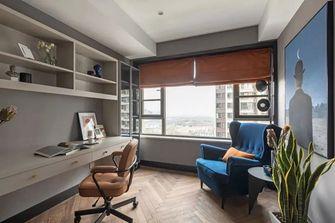 130平米三室两厅英伦风格书房图片