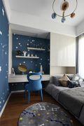 90平米三室两厅美式风格儿童房图片