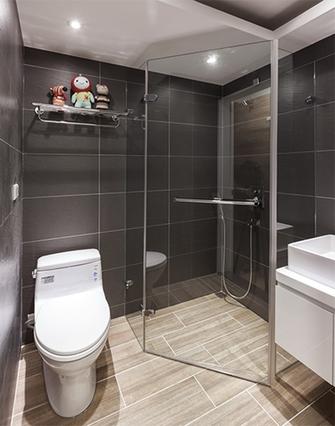 50平米公寓日式风格卫生间图片