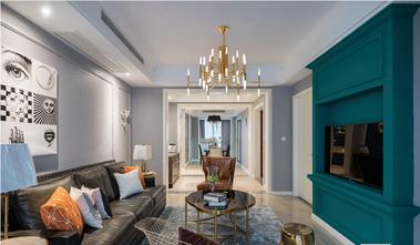 90平米三室两厅田园风格客厅装修图片大全