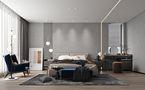 豪华型140平米别墅现代简约风格卧室装修效果图