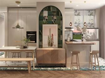 100平米三室两厅北欧风格餐厅图片