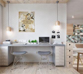 50平米一室一厅北欧风格书房图片