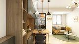 60平米一居室北欧风格客厅欣赏图