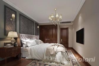 130平米三室一厅美式风格卧室装修效果图